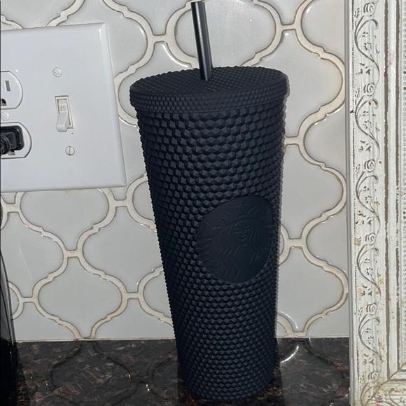 Black studded Starbucks cup